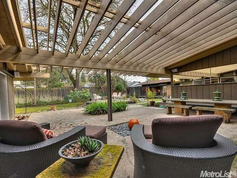 Patio really showcases best of this design. Photos  Via Metrolist/Coldwell Banker/Estately.