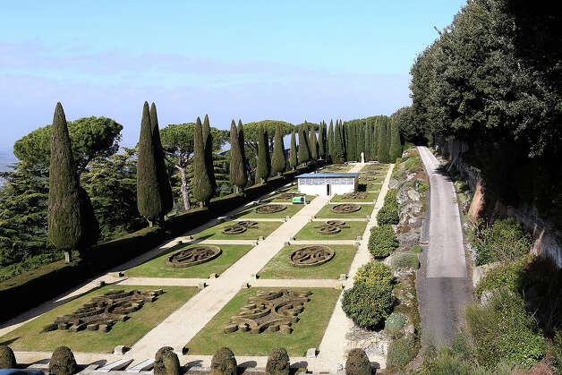 The gardens of the Pontifical residence of Castelgandolfo are seen on February 20, 2013 in Rome, Italy. The Apostolic Palace and The Ponifical Villas of Castelgandolfo, 10 miles south Rome, are the summer residence of Popes and will host  Pope Benedict XVI during the next conclave. Photo: Franco Origlia, Getty Images / 2013 Getty Images