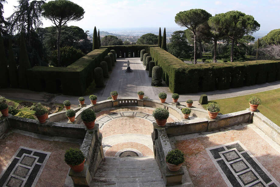 The gardens of the Pontifical residence of Castelgandolfo are seen on February 20, 2013 in Rome. Photo: Franco Origlia, Getty Images / 2013 Getty Images