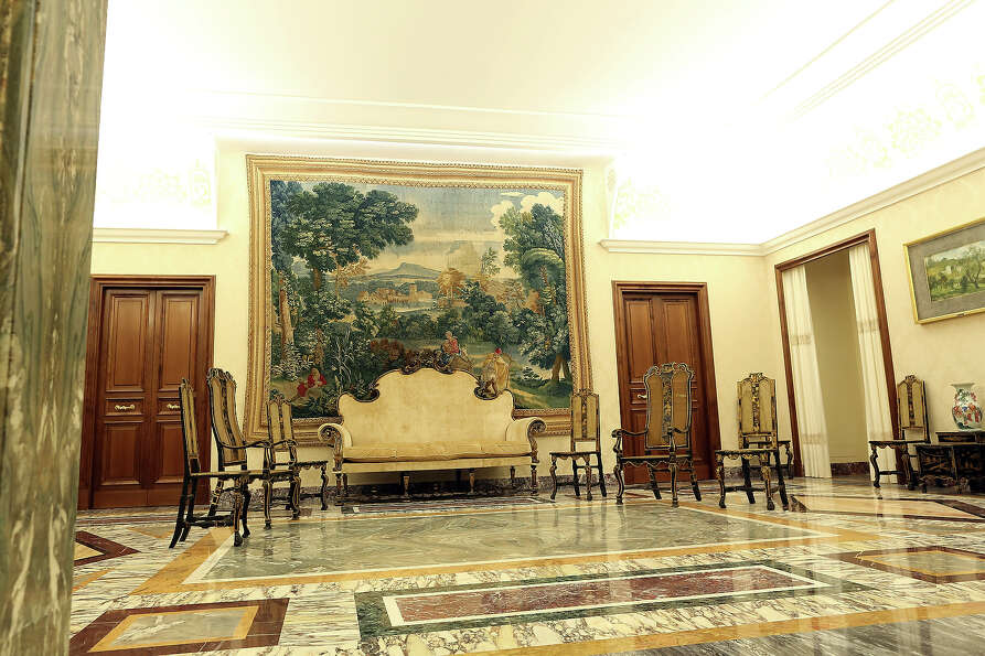 A view of the Chinese Room at the Apostolic Palace of Castelgandolfo on February 20, 2013 in Rome.