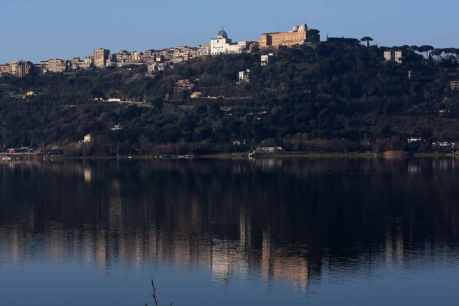 A view of of the Apostolic Palace and the Pontifical Villas of Castelgandolfo on the Albano lac, tha