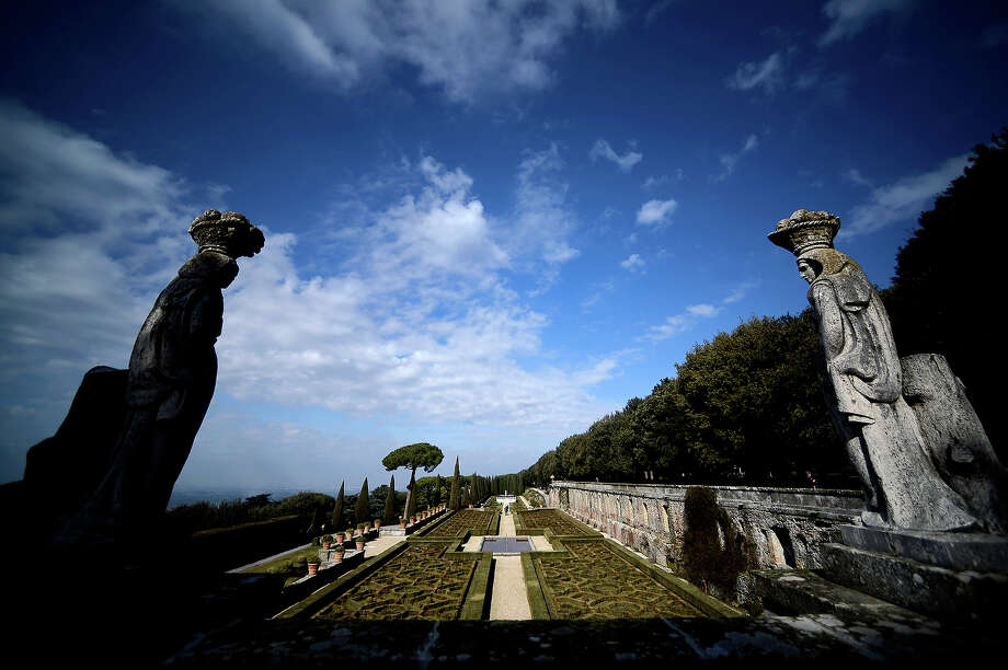 A view taken on February 20, 2013 shows the Pontiff's gardens in the Apostolic Palace of Castel Gandolfo. Photo: FILIPPO MONTEFORTE, AFP/Getty Images / 2013 AFP