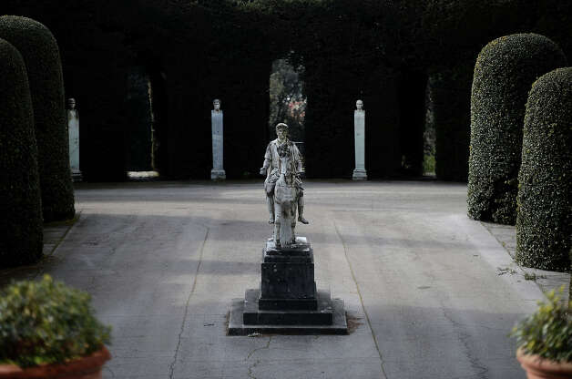 A statue is pictured on February 20, 2013 in the gardens of the Apostolic Palace of Castel Gandolfo. Photo: FILIPPO MONTEFORTE, AFP/Getty Images / 2013 AFP
