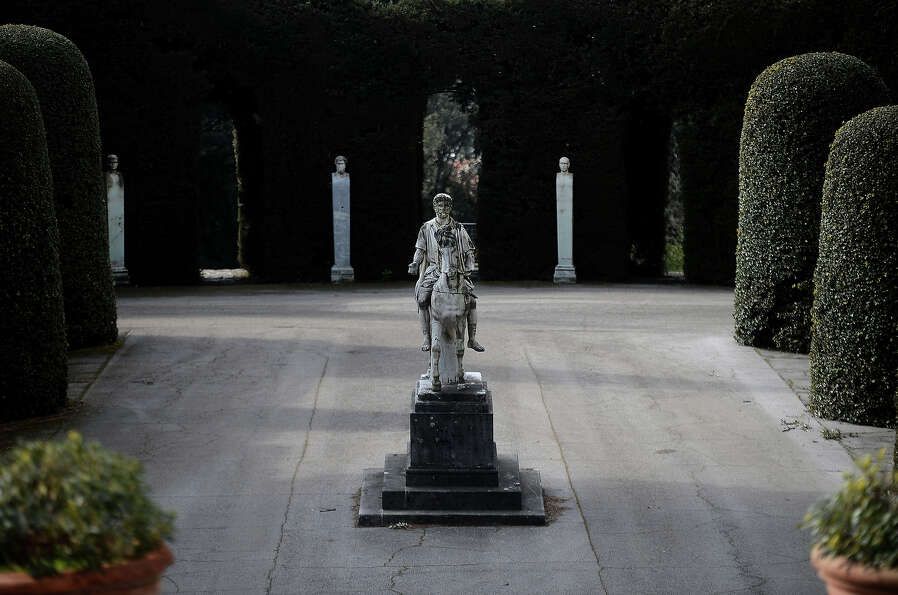 A statue is pictured on February 20, 2013 in the gardens of the Apostolic Palace of Castel Gandolfo.