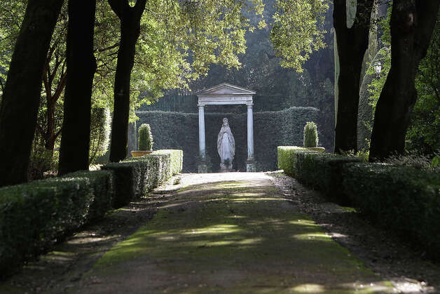 A statue stands in the gardens of the Pontifical residence of Castelgandolfo on February 20, 2013 in Rome. Photo: Franco Origlia, Getty Images / 2013 Getty Images