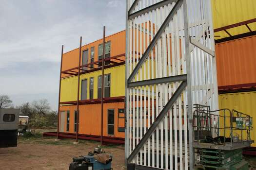 San Antonio developer David Monnich is building an apartment project in Encinal using shipping containers as the building blocks. The Eagle Ford Shale oil and gas activity has created a housing crunch in the area, but Monnich hopes to target long-term residents instead of temporary oil field workers. Photos courtesy David Monnich. Photo: David Monnich