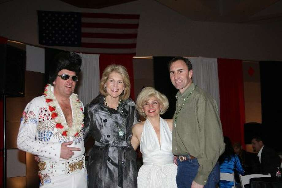 Elvis and Marilyn Monroe joined the Fort Bend Cares event, and rubbed elbows with Nancy and U.S. Rep. Pete Olson, R-Sugar Land.