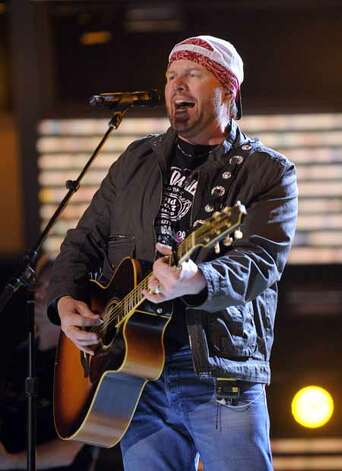 Singer Toby Keith performs during rehearsals for the Academy of Country Music Awards, Friday, April 3, 2009, in Las Vegas. The awards are scheduled to be handed out on Sunday. Photo: Mark J. Terrill, AP / AP