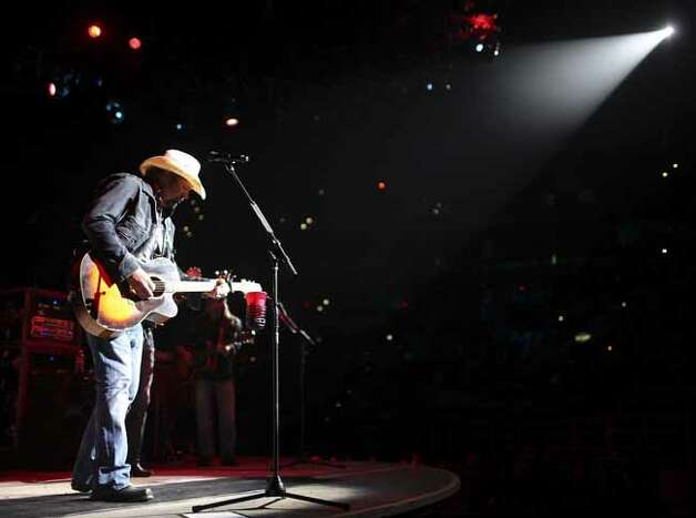 Toby Keith performs Friday Feb. 4, 2011 during the San Antonio Stock Show & Rodeo at the AT&T Center. (PHOTO BY EDWARD A. ORNELAS/eaornelas@express-news.net) Photo: EDWARD A. ORNELAS, SAN ANTONIO EXPRESS-NEWS / eaornelas@express-news.net