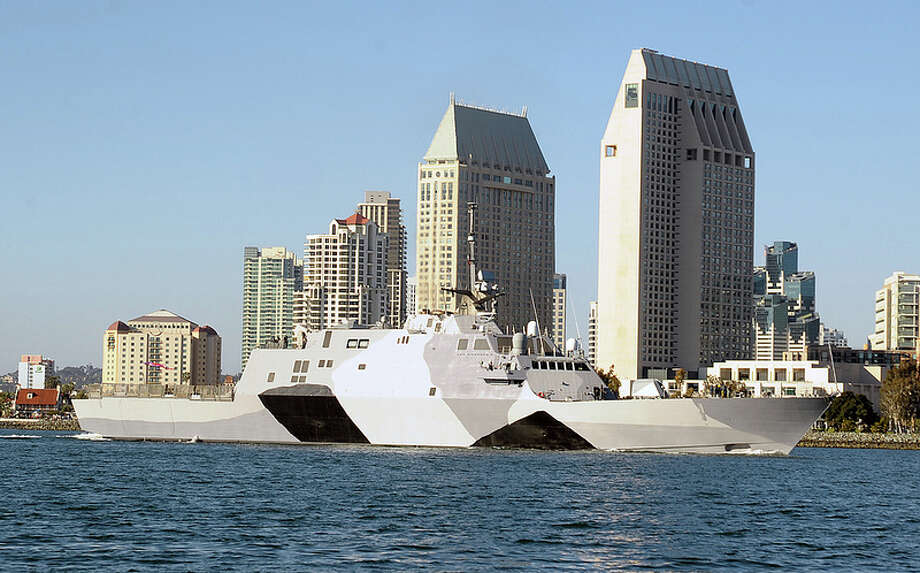 The first of the U.S. Navy's new littoral combat ships is scheduled to start its first overseas deployment Friday. The USS Freedom is one of several unusually shaped ships designed to operate close to shore. Their modular designs allow quick reconfiguration for surface warfare, mine countermeasures and anti-submarine warfare. The Littoral Combat Ship class consists of two variants: Freedom, built by a Lockheed Martin-led team, and Independence, built by a General Dynamics-lead team. Photo: U.S. Navy Photo By Mass Communication Specialist 2nd Class Rosalie Garcia