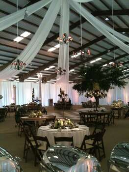 The indoor event space at The Inn at Dos Brisas can hold up to 300 guests.
