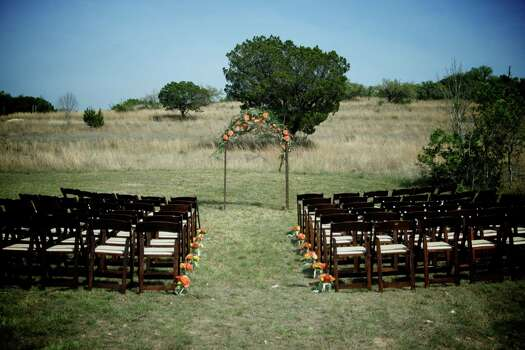 An outdoor ceremony location at Red Corral Ranch.