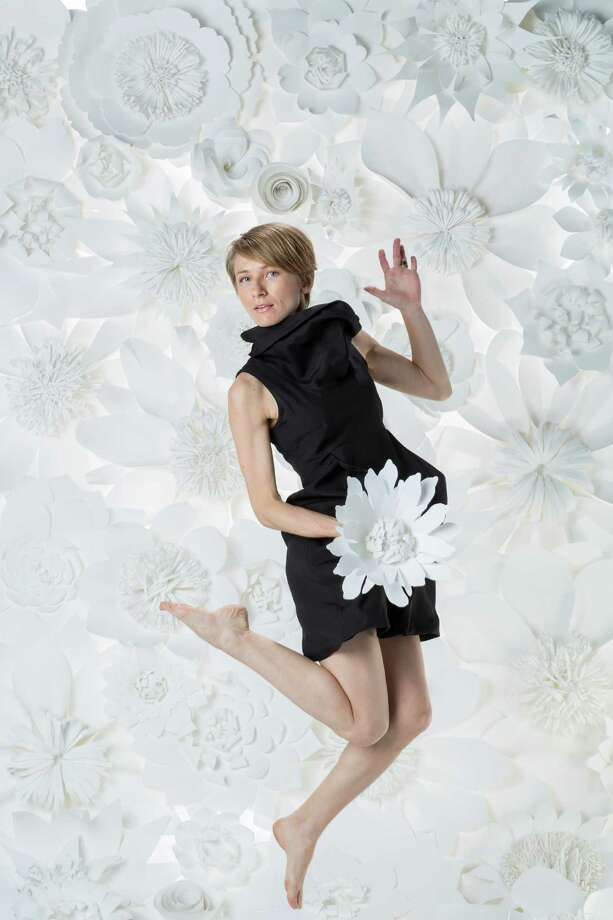 Paper floral artist Balushka. ( Michael Paulsen / Houston Chronicle ) Photo: Michael Paulsen, Staff / © 2013 Houston Chronicle