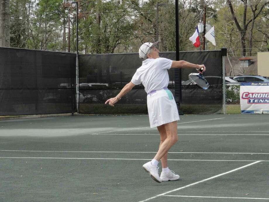 Joyce Vanderpol, 89, is the most senior tennis player in this week?s 43rd USTA National Senior Women?s Clay Court Championships at the Houston Racquet Club. She?s 89 years old. Photo: Joyce Gillaspie
