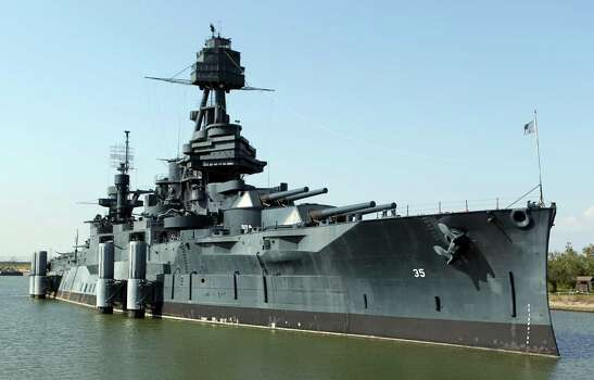 The Battleship Texas which will now be offering Hard Hat Tours of the ship Friday, Oct. 5, 2012, in La Porte.  ( James Nielsen / Chronicle ) Photo: James Nielsen, Staff / © Houston Chronicle 2012