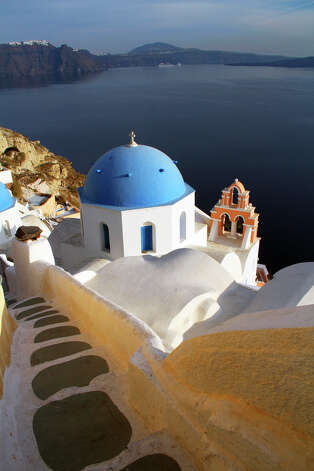 A visit to the Greek isle of Santorini should be less expensive this year, due to the nation's economic crisis. Photo: Patrick O'Connor, Ricksteves.com