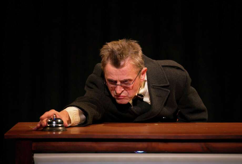 "Mikhail Baryshnikov is starring in ""Man in a Case"" at Hartford Stage through March 24. The adaptation of two short stories by Chekhov combines elements of dance, theater and video. Photo: Contributed Photo"