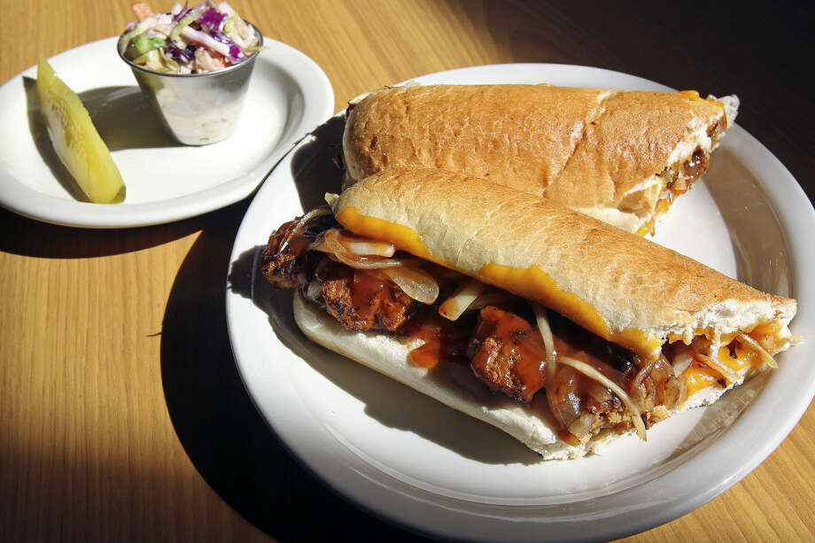 You won't leave hungry after a BBQ Rib Hero at Panchos & Gringos. Photo: Photos By Tom Reel / San Antonio Express-News