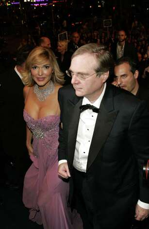 Paul Allen pictured with actress Laura Harring. Photo: Jean Baptiste Lacroix, / / WireImage