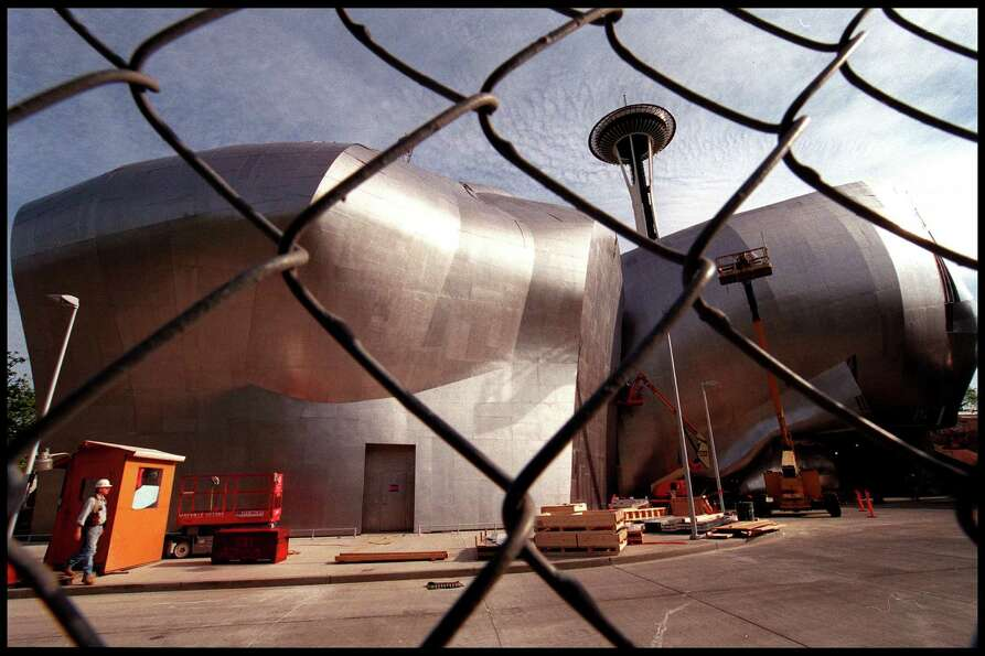 Paul Allen's Experience Music Project, pictured in May 2000 shortly before it opened.