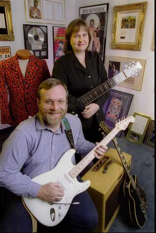 Paul Allen is pictured with sister Jody Allen in a 1997 photo. (File photo by JEFF REINKING) Photo: JEFF REINKING, /