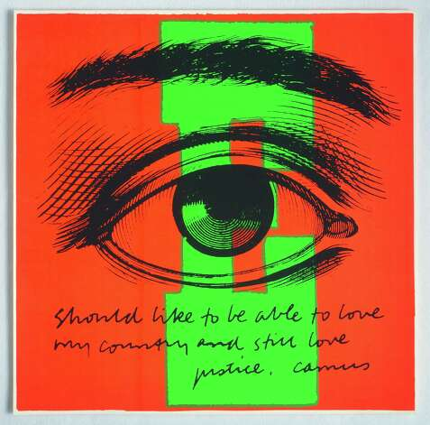 Corita Kent E eye love, 1968 Serigraph 23 x 23 inches Photographs courtesy of The Tang Museum at Skidmore College and Corita Art Center, Los Angeles. Photo: Arthur Evans