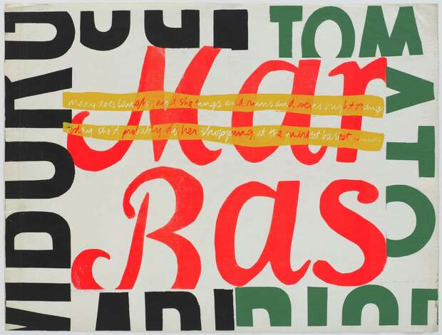 Corita Kent mary does laugh, 1964 Serigraph 29 ¾ x 39 ¼ inches Photographs courtesy of The Tang Museum at Skidmore College and Corita Art Center, Los Angeles.