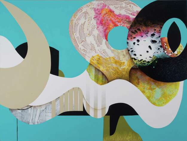 Carrie Moyer Herr Doktor, 2012 Acrylic, glitter on canvas 60 x 72 inches Courtesy Tang Teaching Museum