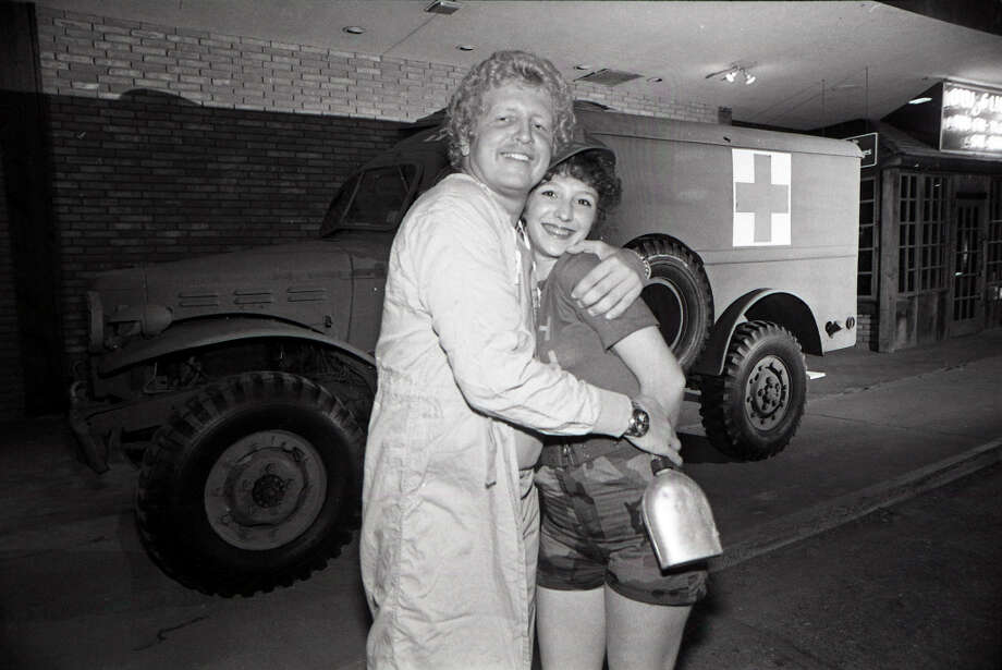 M*A*S*H fans gather for the series finale. Feb. 28, 1983 Photo: Larry Reese, Chronicle File