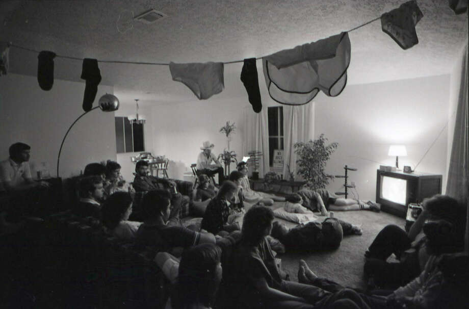 M*A*S*H fans gather at a party to coincide with the show's last broadcast at 4823 Roserock. Feb. 28, 1983. Photo: Steve Campbell, Chronicle File