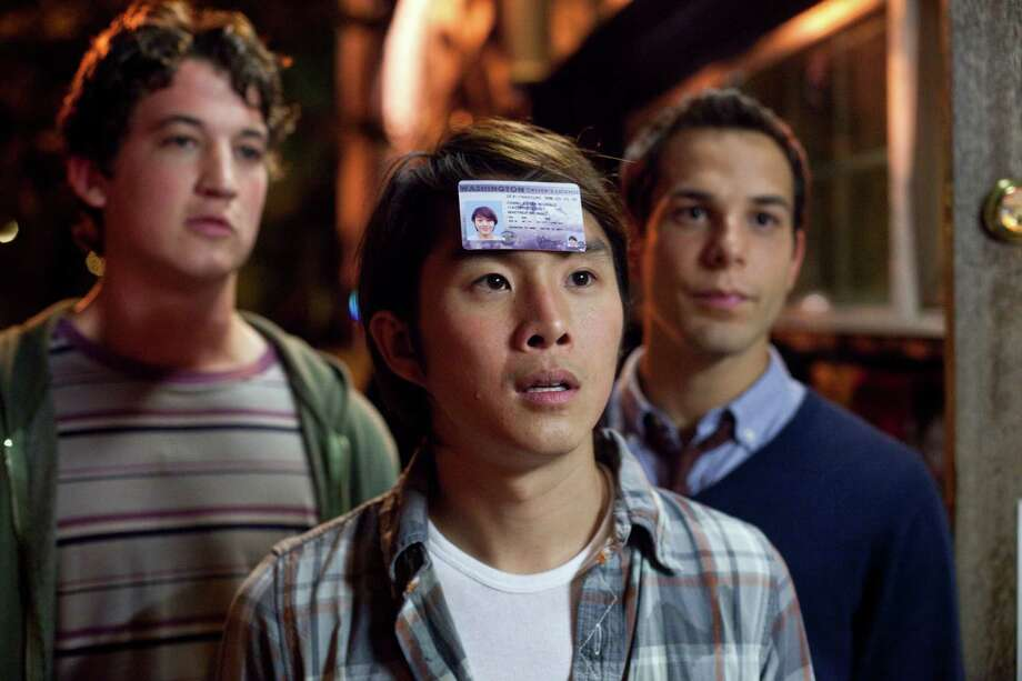 "Photo Credit:  John Johnson/Relativity Media M 096 (Left to right.)  Miles Teller, Justin Chon, and Skylar Astin star in Relativity Media's ""21 & Over"". Photo: John Johnson / © 2011 Twenty One and Over Productions, Inc."
