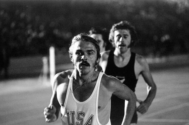 And here's the real Steve Prefontaine in action during a track and field event at Crystal Palace in London, England. Photo: Tony Duffy, Getty Images / Getty Images Europe