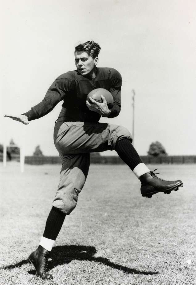 Ronald Reagan posing in a press shot for the film Knute Rockne: All American. Photo: Rolls Press/Popperfoto, Popperfoto/Getty Images / Popperfoto