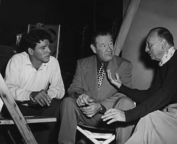 From left to right, actor Burt Lancaster, athlete Jim Thorpe and director Michael Curtiz on the set of the biopic Jim Thorpe: All-American in Hollywood in May 1951. Lancaster played Thorpe in the movie. Photo: FPG, Getty Images / 2009 Getty Images