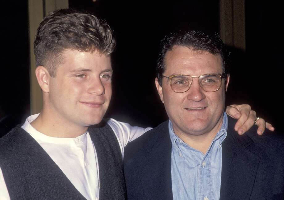 Rudy! Rudy! Rudy! Actor Sean Astin and former football player Rudy Ruettiger attend the Rudy Westwood Premiere on September 28, 1993 at the Mann National Theatre in Westwood, California. Photo: Ron Galella, WireImage / 1993 Ron Galella, Ltd.