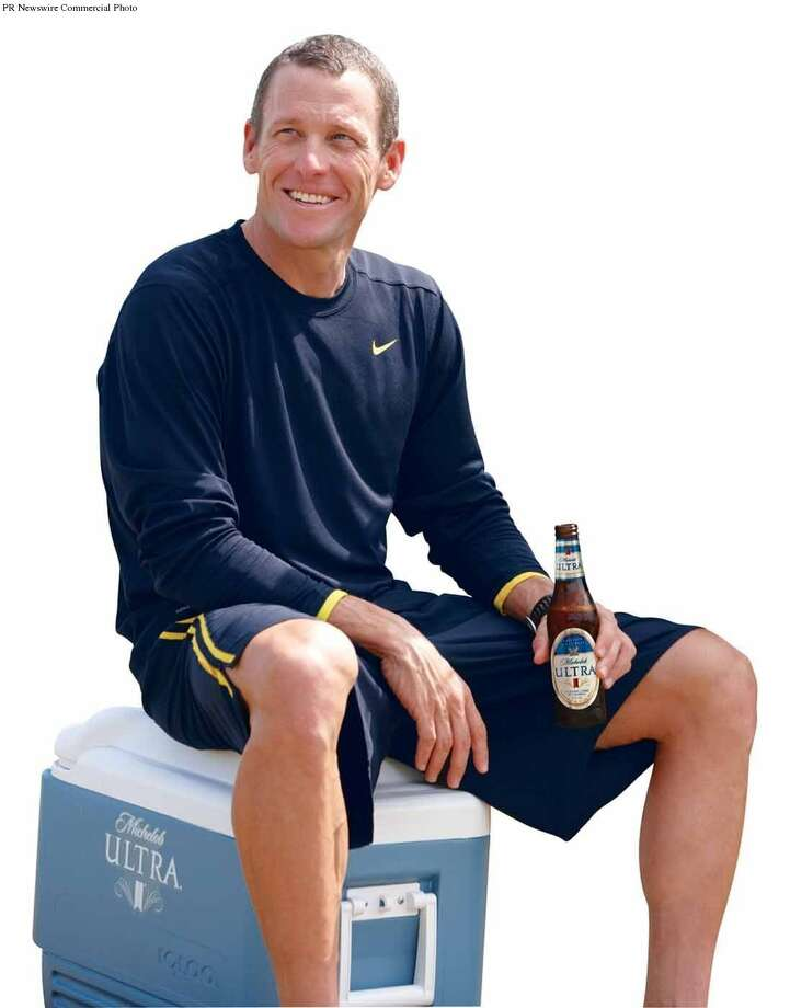 Lance Armstrong —Without his cameo, Vince Vaughn would have never won the game and the girl in Dodgeball. Photo: PR NEWSWIRE / ANHEUSER-BUSCH