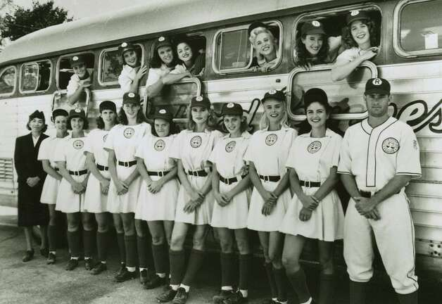 Geena Davis —A League of Their Own star Geena Davis (center) nearly made the Olympic archery team. Photo: Columbia Pictures, Chronicle File / SFC