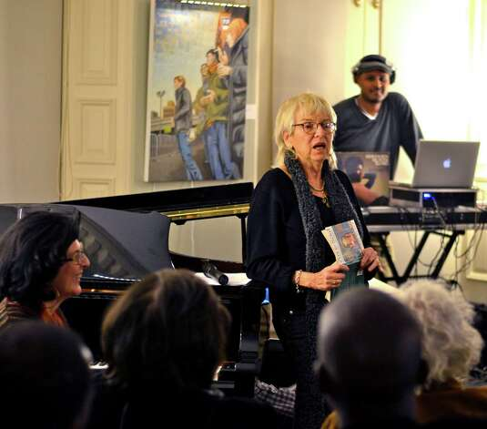 Painter Audrey Flack spoke at Beechwood Arts NYC 1970's Downtown Birthday Bash. Photo: Evan Angelastro, Contributed Photo / Connecticut Post Contributed