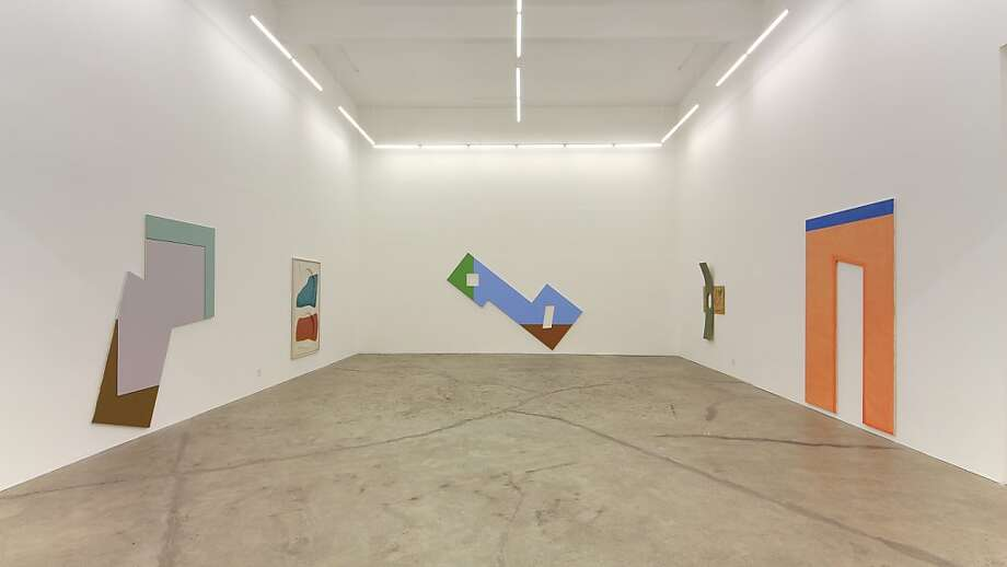 Installation view showing untitled paintings and works in mixed media by Noam Rappaport at Ratio 3, San Francisco Photo: Unknown