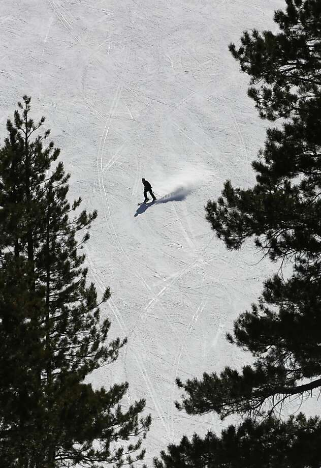 The Department of Water Resources' snow survey found the snowpack was only 29 inches deep at Echo Summit. Photo: Rich Pedroncelli, Associated Press