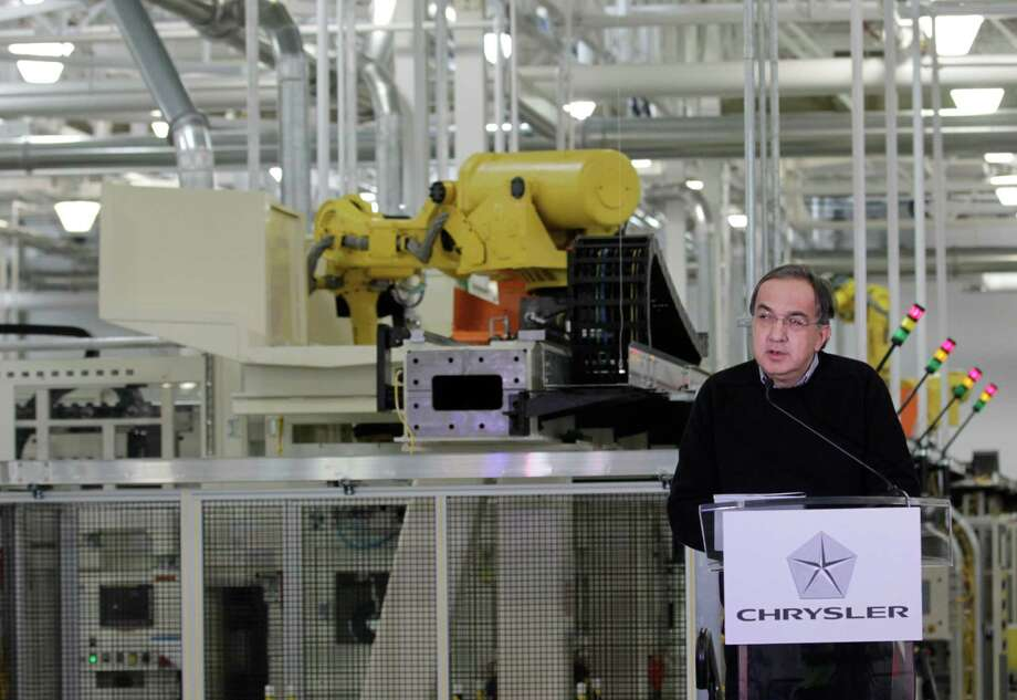 Chrysler Group LLC Chairman and CEO Sergio Marchionne announces a $374 million investment in two Indiana plants at an investment and jobs announcement event at the Chrysler transmission plat in Kokomo, Ind., Thursday, Feb. 28, 2013. Chrysler said Thursday it will invest nearly $400 million and create 1,250 new jobs at transmission and metal casting factories in the Kokomo, Indiana, area. (AP Photo/AJ Mast) Photo: AJ Mast