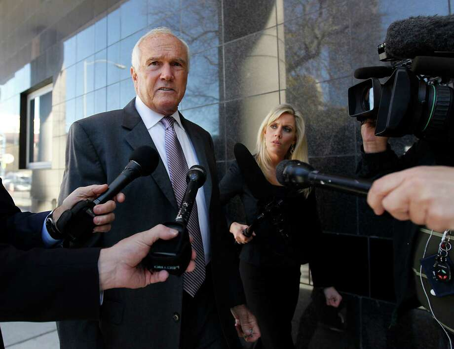 Former Harris County Commissioner Jerry Eversole, shown in court in 2012, is being paid $45,000. Photo: Karen Warren, Staff / © 2012  Houston Chronicle