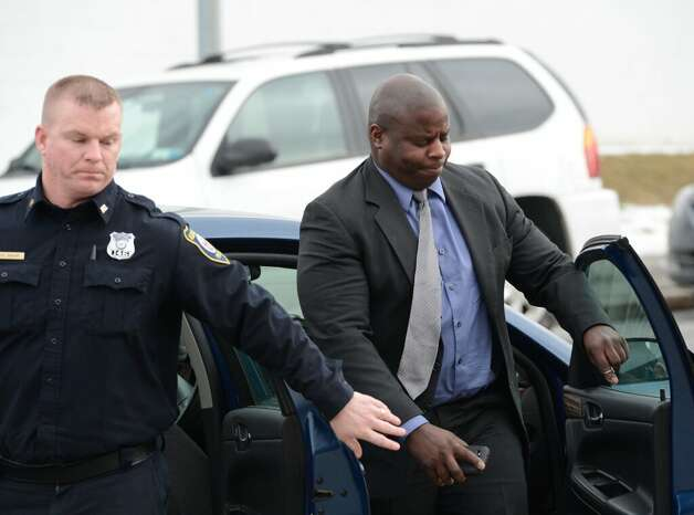 Charged with driving while intoxicated on Feb. 19, 2013, Max Etienne arrives for his arraignment Tuesday in Albany City Court. (Skip Dickstein / Times Union archive)