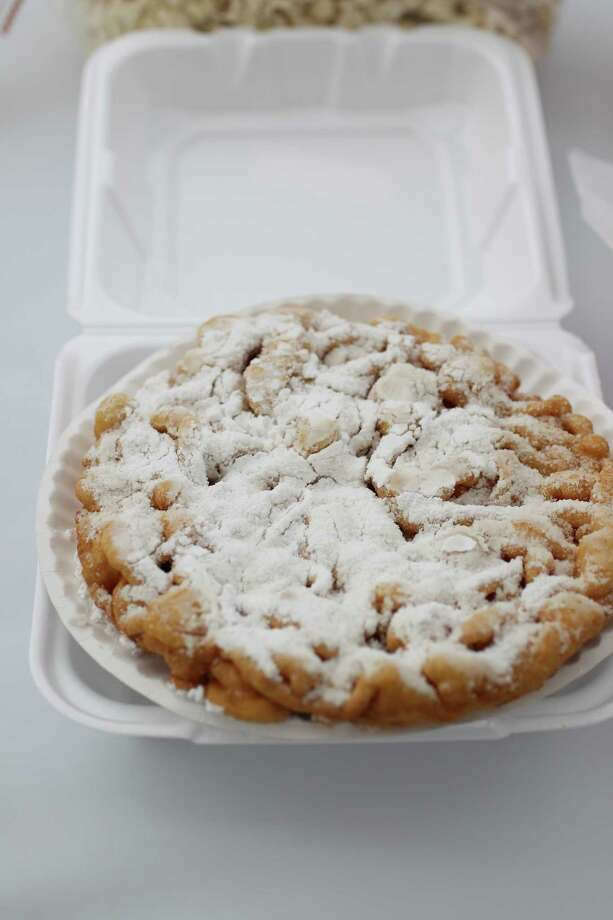 A funnel cake on display in the Classic Fair Food division during the annual Golden Buckle Foodie Awards at the Houston Livestock Show and Rodeo, Thursday, Feb. 28, 2013, in Houston. Photo: Karen Warren, Houston Chronicle / © 2013 Houston Chronicle