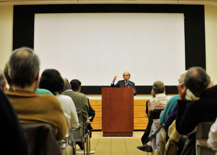 Joel Klein, former Chancellor of the New York City Department of Education, speaks on Civility in Education at the Ferguson Library in Stamford on Thursday, Feb. 28, 2013. The speech was part of a series on Civility in America. Hearst Media Group is a co-sponsor of the series. Photo: Jason Rearick / The Advocate