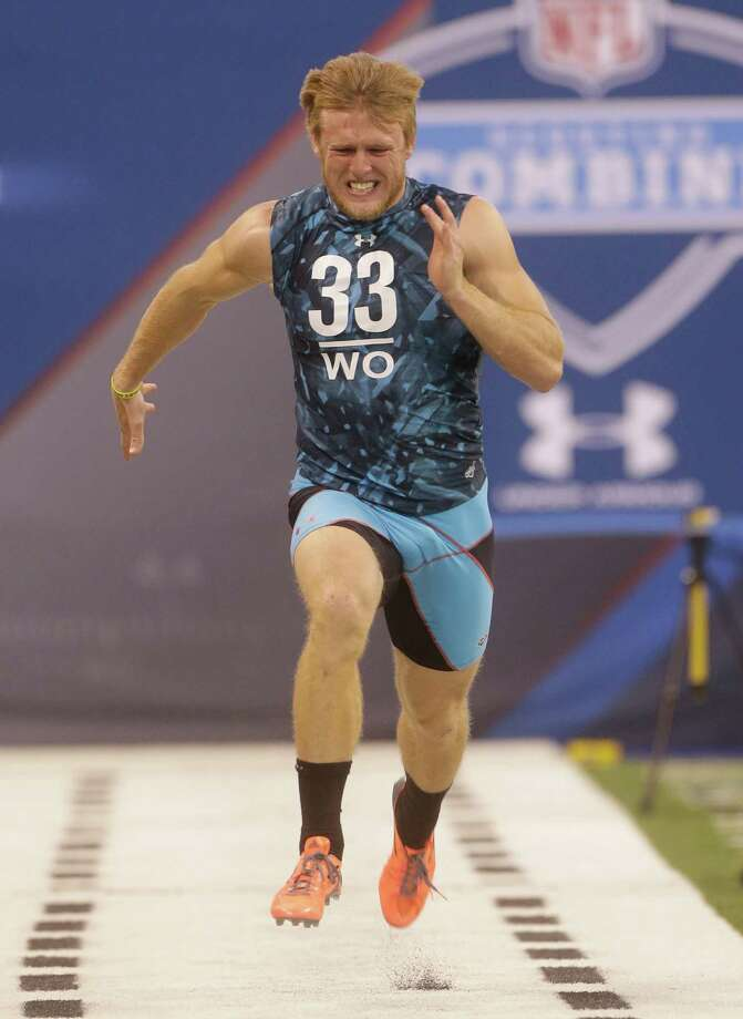 Ryan Swope's time of 4.34 seconds tied for the second-fastest 40 run at the combine. Photo: Dave Martin, STF / AP