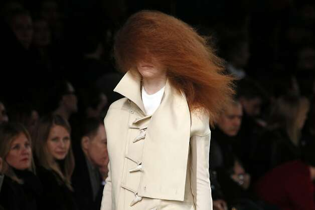 A model presents a creation by Rick Owens during the Fall/Winter 2013-2014 ready-to-wear collection show, on February 28, 2013 in Paris. Photo: Patrick Kovarik, AFP/Getty Images