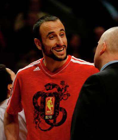 Spurs shooting guard Manu Ginobili during the first half of an NBA basketball game against the Chicago Bulls Monday, Feb. 11, 2013, in Chicago. Photo: Charles Rex Arbogast, Associated Press / AP