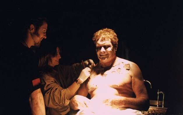 An ''X-Files'' actor gets some fake rotting skin (1995).