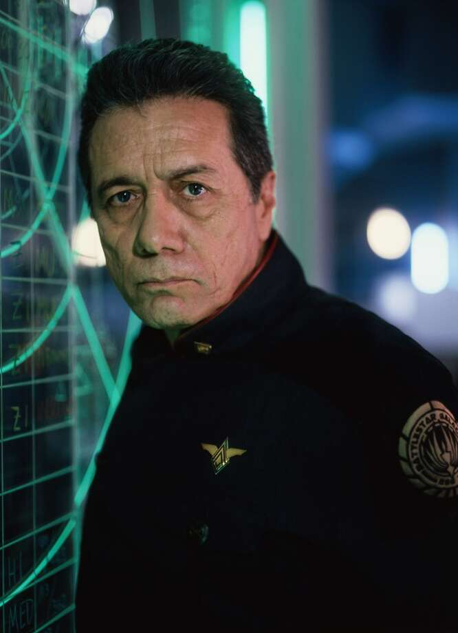 """Most recently, Edward James Olmos was the star of """"Battle Star Galactica,"""" but has played though-guy roles for many years. Maybe it's the passion that still lives in him from his teenage years as a rock singer. Also, his poor background has been vital to his credibility as a though guy."""